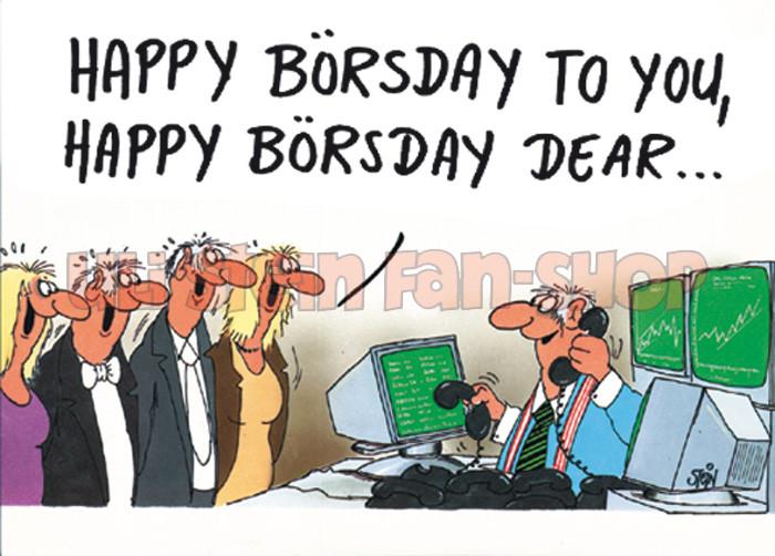 Postkarte Happy Börsday