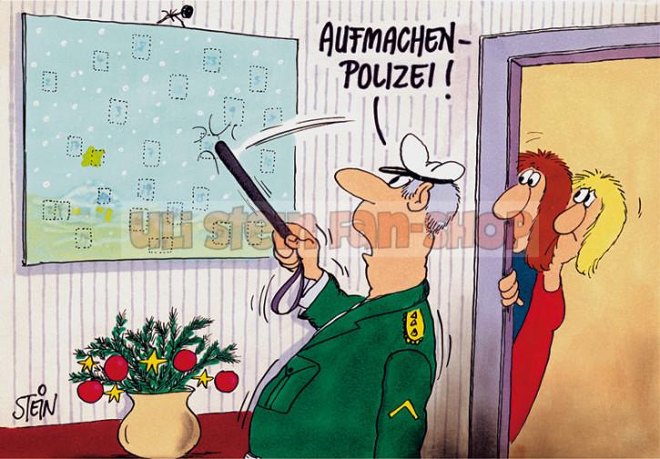 Postkarte Weihnachten 7 Aufmachen Polizei