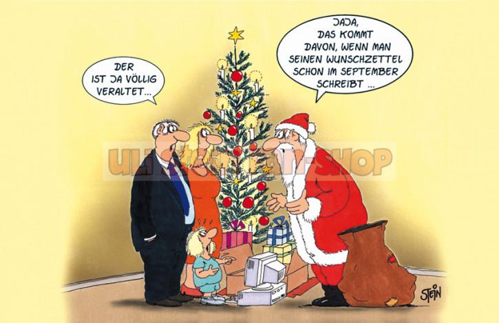 Postkarte Weihnachten / Völlig veraltet