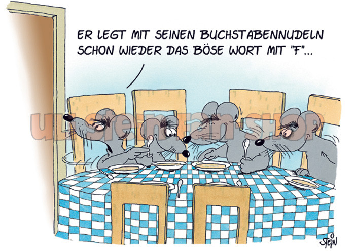 Postkarte Das böse Wort mit F...