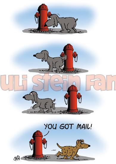 Postkarte You Got Mail