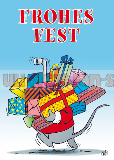 Postkarte Weihnachten / Frohes Fest