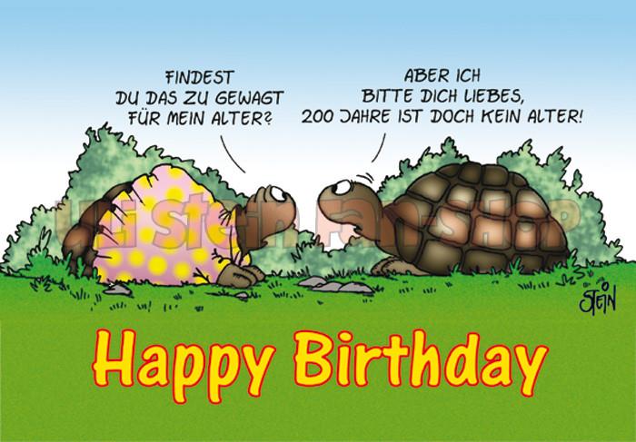 Klappkarte Happy Birthday, Schildkröte