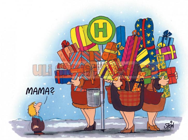 Postkarte Weihnachten / Mama?