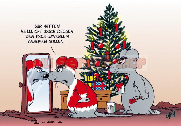 Postkarte Weihnachten / Kostümverleih