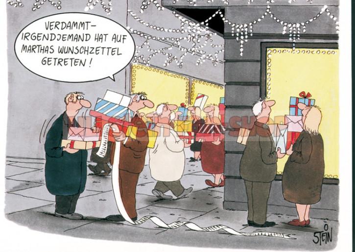 Klappkarte Weihnachten / Wunschzettel