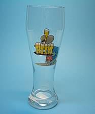 Uli Stein Weizenbierglas 0,5 liter / Maus mit Tablett