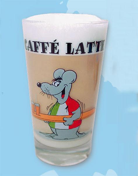 Uli Stein Cafe Latte Glas Italiener