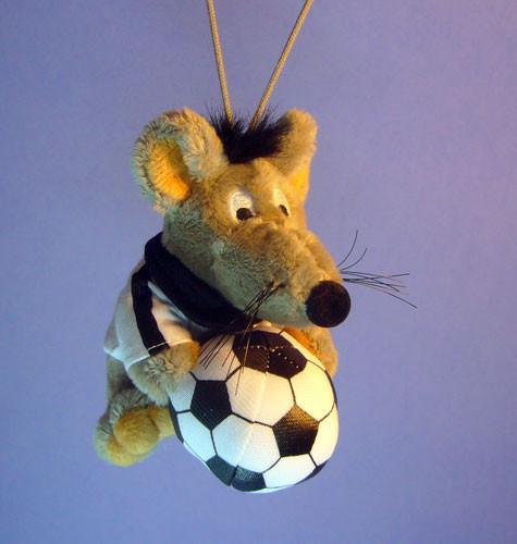 Plüsch Fussball mit Bändchen