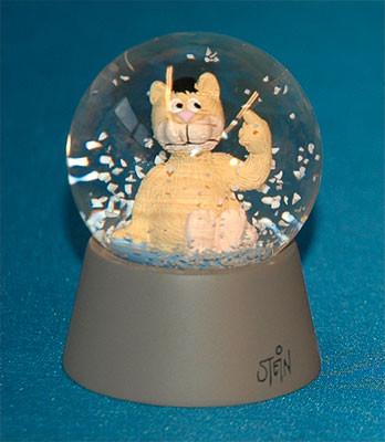 Schneekugel / Finger Katze