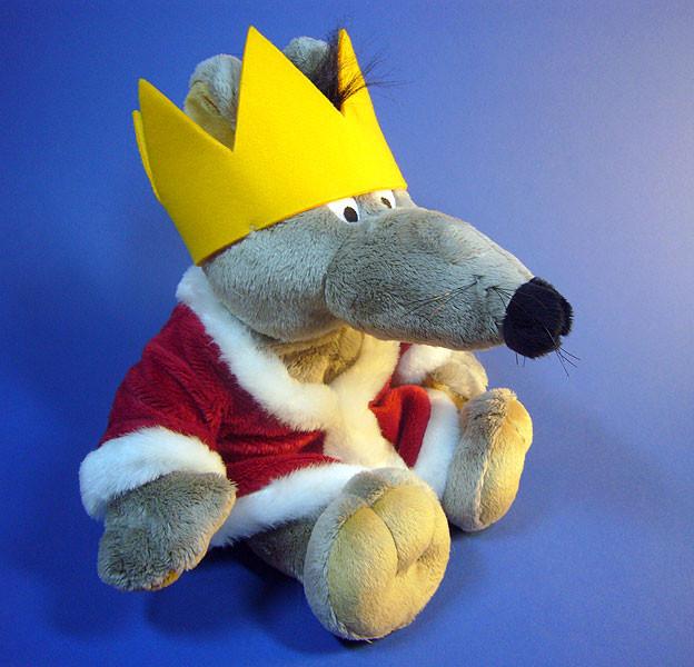 Plüsch Maus, 30cm König
