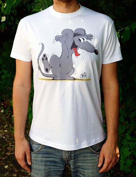 Uli Stein T-Shirt weiss Freche Maus