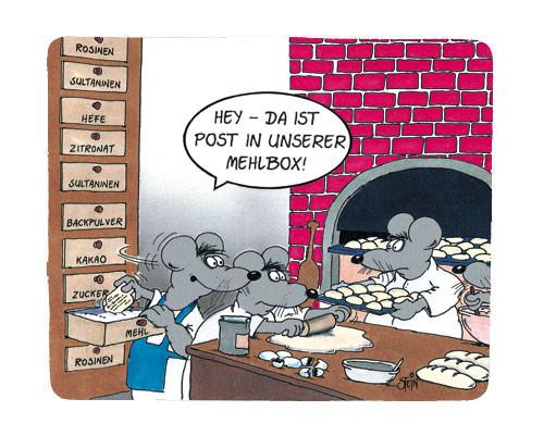 """Uli Stein Mousepad """"""""Mehlbox"""