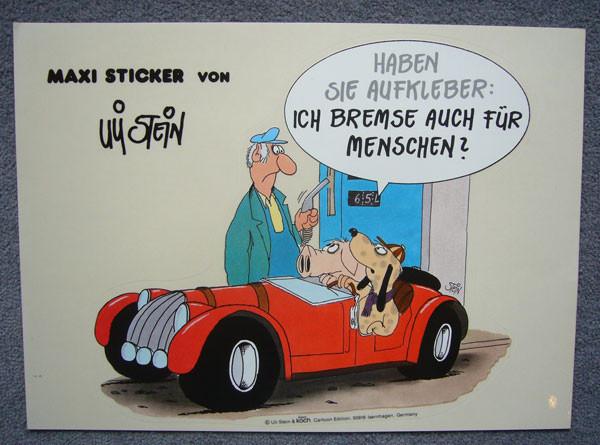 Maxi Sticker Ich bremse auch für Menschen