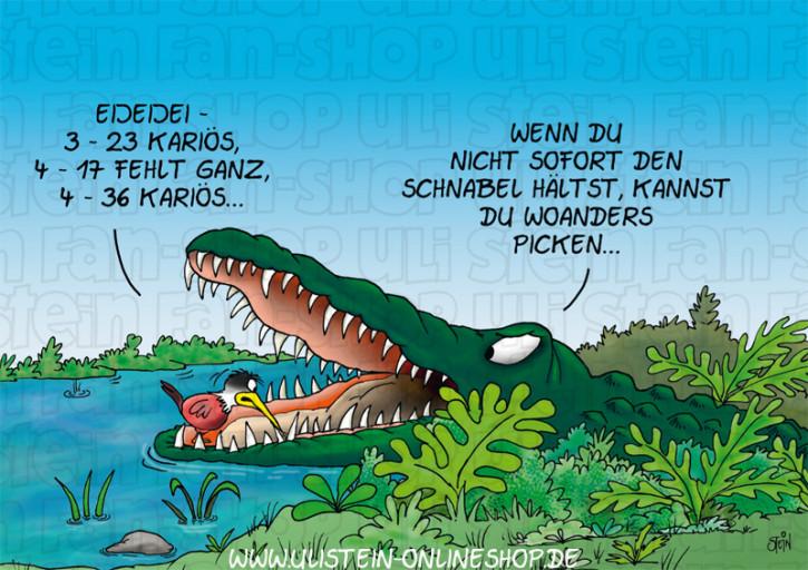 Postkarte / Krokodil