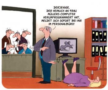 "Uli Stein Mousepad """"Frau Müller"