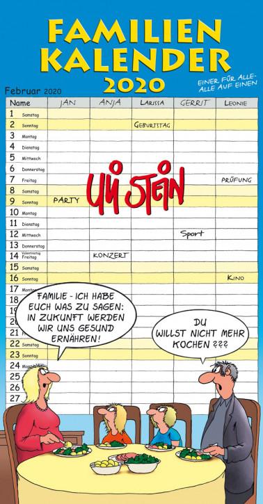 Uli Stein Familien Kalender 2018