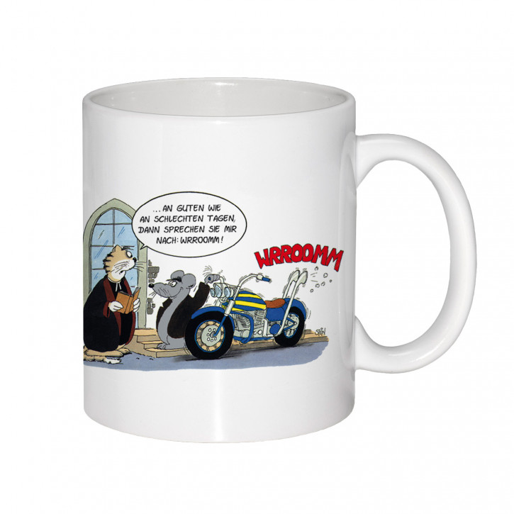 "Uli Stein Becher ""Wrroomm"" Motorrad"
