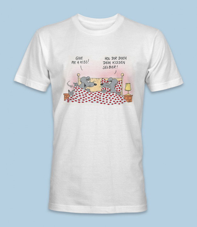 """Uli Stein T-Shirt weiss """"Give me a Kiss"""" Größe: XXL"""