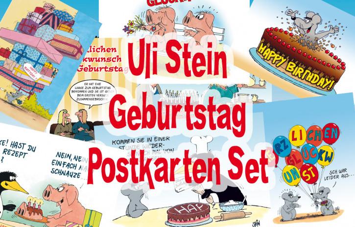 """Uli Stein Postkarten 10er Set """"Geburtstag"""""""