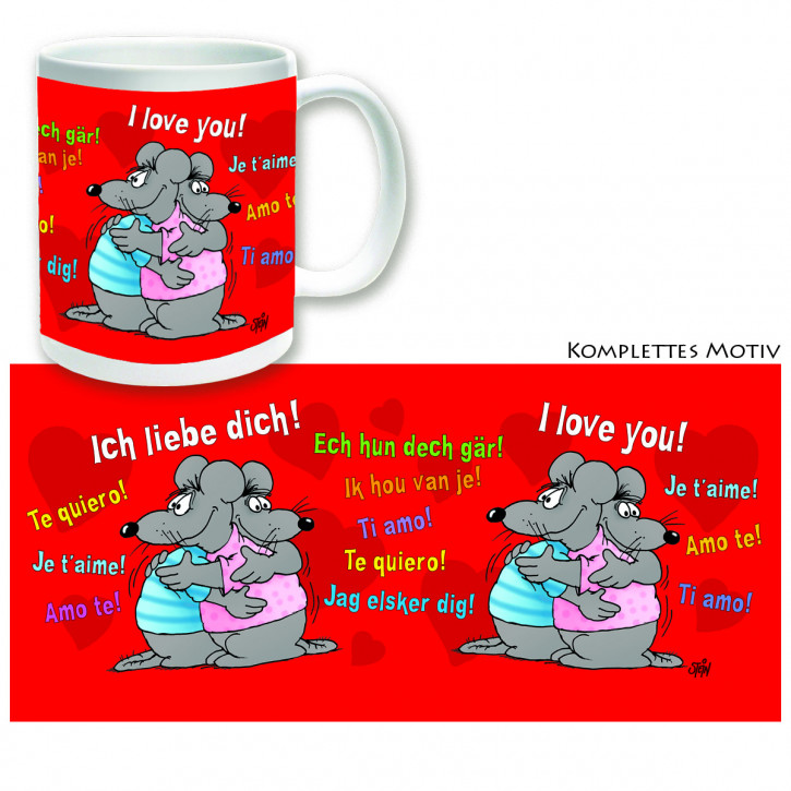 Uli Stein Becher I Love You
