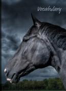 Uli Stein Vokabelheft A5 Pferd, schwarz