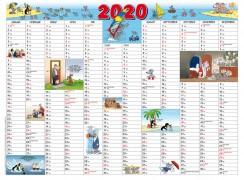 Uli Stein Kalenderpostkarte 2020 (21x15cm)