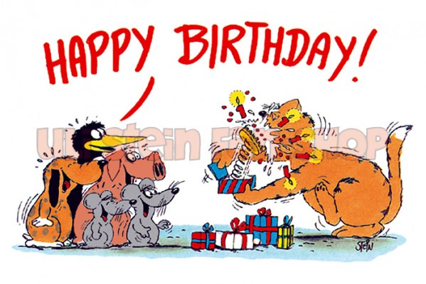 Klappkarte Happy Birthday