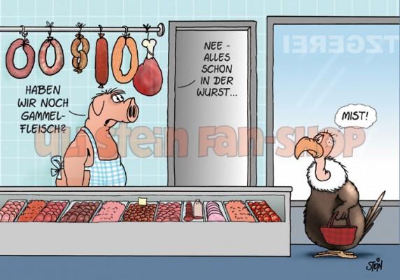 Postkarte Gammelfleisch