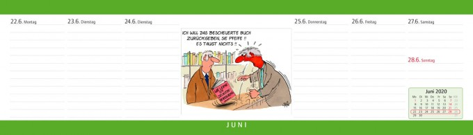 Uli Stein Tischquerkalender Wochenplaner 2020