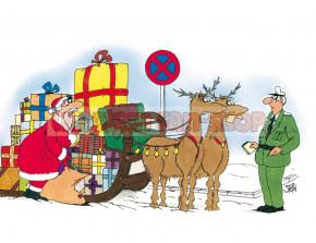 Postkarte Weihnachten / Strafzettel