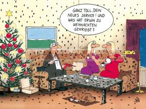 Postkarte Weihnachten / was hat Erwin zu Weihnachten gekriegt?