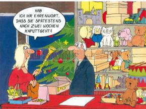 Postkarte Weihnachten / Ehrenwort