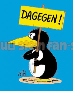 Postkarte Dagegen