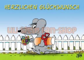 Klappkarte Glückwunsch Maus