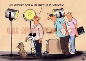 Postkarte Katze Kostüm