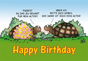 Klappkarte Happy Birthday, Schildkröte