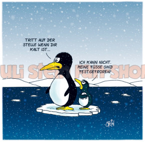 Postkarte Meine Füße sind festgefroren
