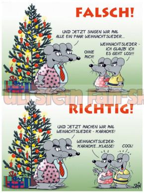 Postkarte Weihnachten Richtig/Falsch