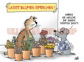Postkarte Lasst Blumen sprechen