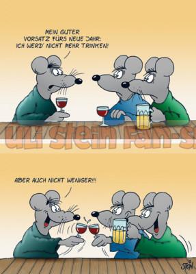 Postkarte Weihnachten / Nicht mehr trinken