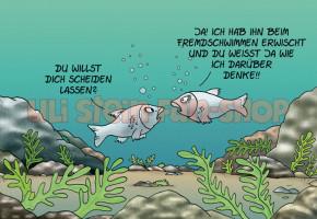 Postkarte ... beim fremdschwimmen erwischt