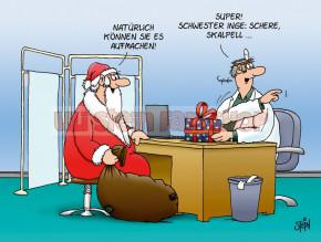 Postkarte Weihnachten / Arzt Geschenk