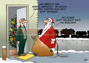 Postkarte Weihnachten / Schade