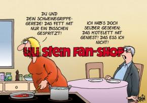 Postkarte / Schweinegrippe