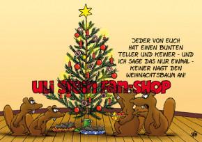 Weihnachtskarte /Keiner nagt den Weihnachtsbaum an!