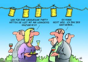 Postkarte / Langweilige Party