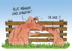 Postkarte / Alle M_nner sind Schweine