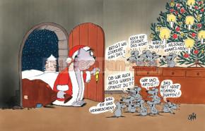 Klappkarte Weihnachten / Artig