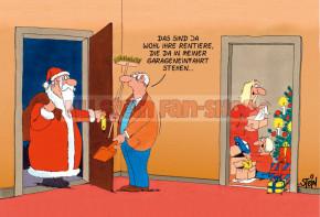 Klappkarte Weihnachten / Rentiere
